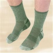 Maggie's Organics - Wool Urban Socks, Crew Green 9-11