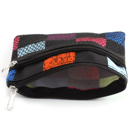 Nylon mesh coin pouch