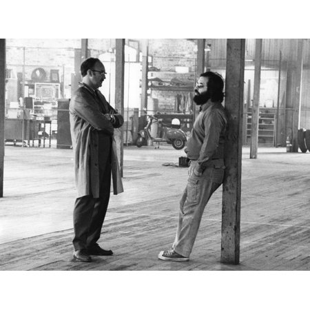 Actor Gene Hackman and film director Francis Ford Coppola on the set of the film The Conversation, Print Wall Art