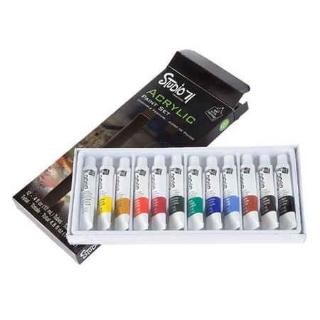 Studio 71 Acrylic Paint Set - 12 mL Tubes - Assorted Colors - 12 pieces