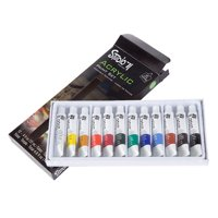 Studio 71 Acrylic Paint Set - 12 mL Tubes - Assorted Colors - 12 pieces
