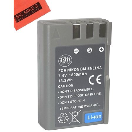 BM Premium EN-EL9, EN-EL9A Battery for Nikon D5000, D3000, D60, D40x & D40 Digital SLR Camera