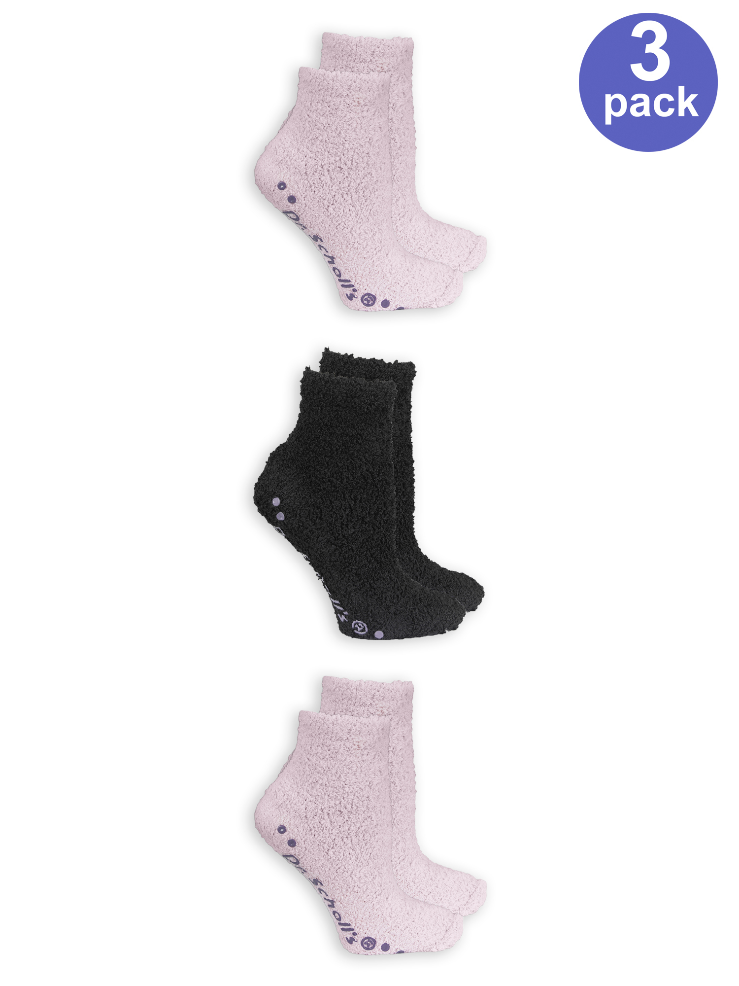 Women's Bonus Pack Low Cut Spa Socks With Grippers 3 Pack