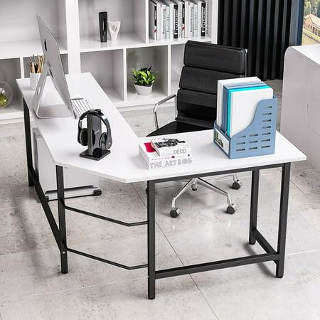 huge discount f7cee 414a6 Tribesigns Modern L-Shaped Corner Computer Desk, White