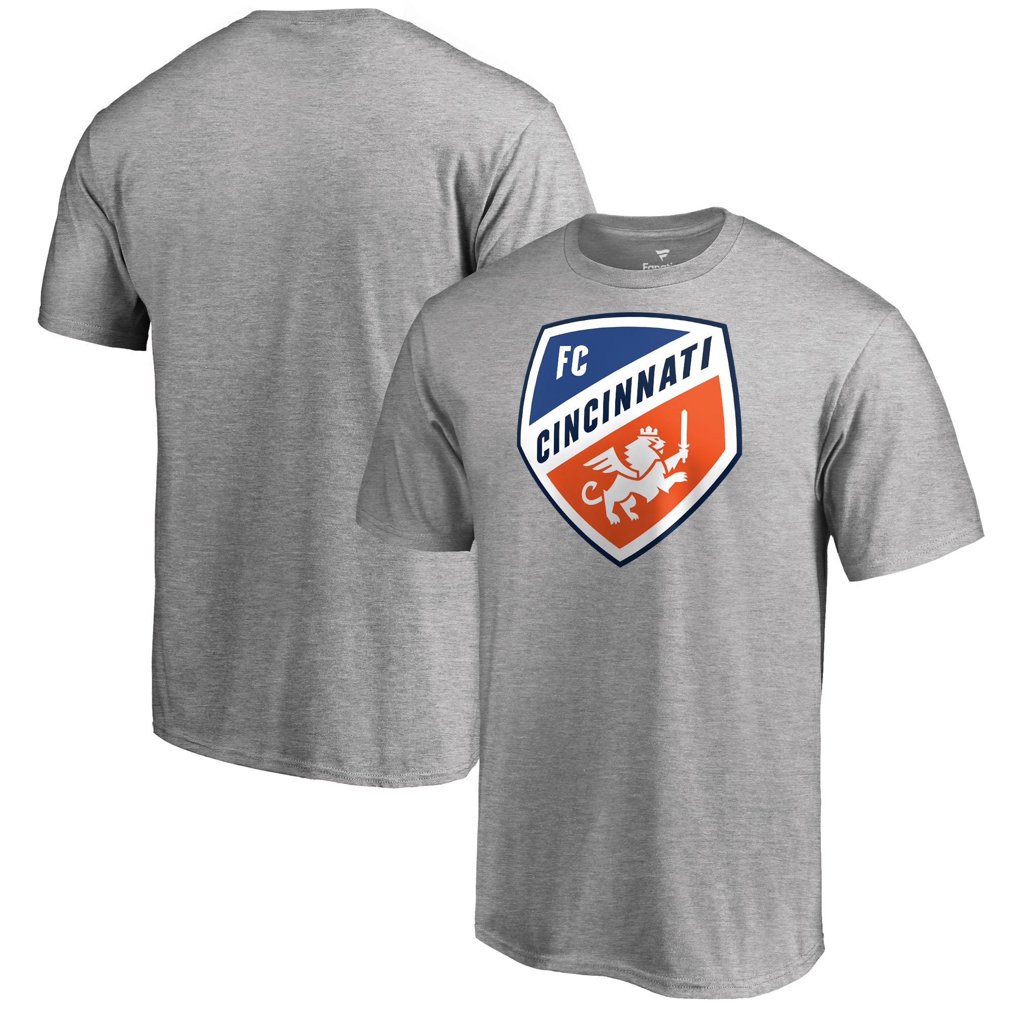 FC Cincinnati Fanatics Branded Primary Logo Big & Tall T-Shirt - Heather Gray
