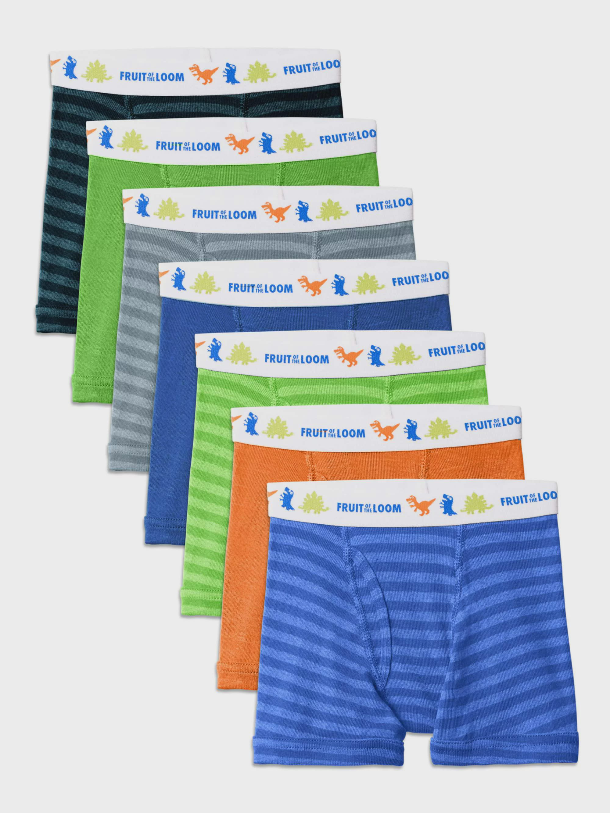 9718fd9a38ed Fruit of the Loom - Assorted Cotton Boxer Briefs, 7 Pack (Toddler Boy) -  Walmart.com