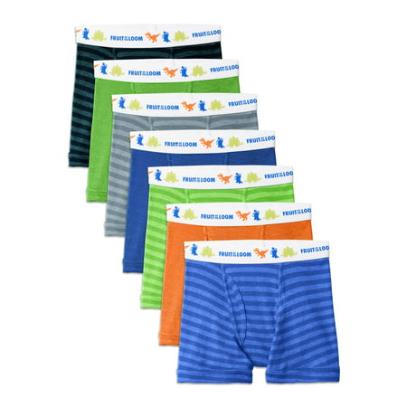 Fruit of the Loom Assorted Cotton Boxer Briefs, 7 Pack (Toddler (Fruit Of The Loom Trunk Boxer Briefs)