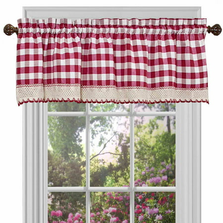 Achim Buffalo Check Window Curtain Valance - 58x14 ()