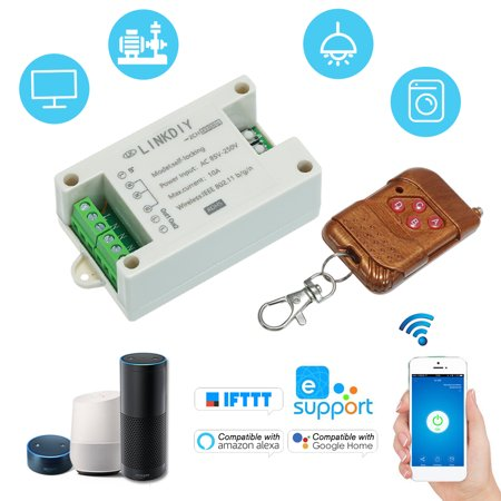 eWeLink 433Mhz Smart Wifi Switch Universal Wireless Remote Control Switch  Module 2CH AC85-250V Timer Phone APP Remote Control Compatible with
