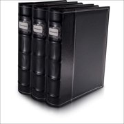 HandStands 11307PACK3 Bellagio-Italia CD-DVD-Blu-Ray Binder Storage System- 3 Pack Black