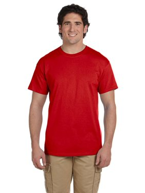 Branded Fruit of the Loom Adult 5 oz HD Cotton T-Shirt - TRUE RED - 6XL (Instant Saving 5% & more)
