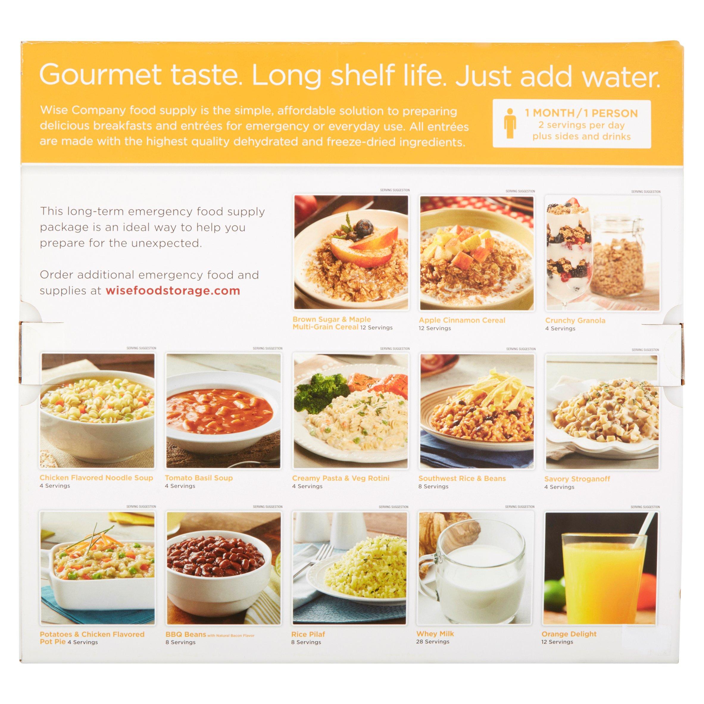 sc 1 st  Walmart & Wise Foods 1 Month Supply Pack (112 Servings) - Walmart.com