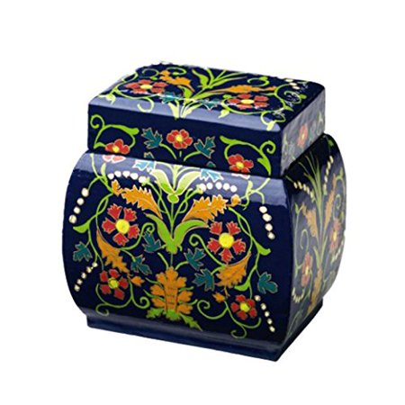 Keepsake Box Home Decor Colorful Blue Bombe Decorative Lidded Boxes Hand Painted Designer Hand Painted Boxes