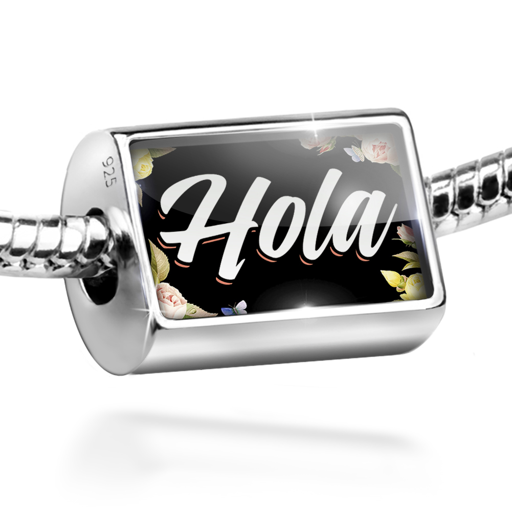 Bead Floral Border Hola Charm Fits All European Bracelets
