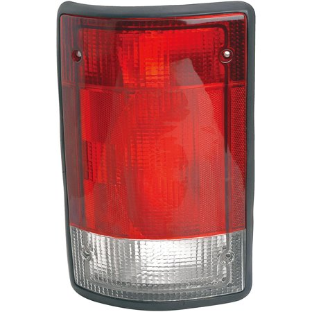 Van Tail Light Assembly - Left Tail Light Assembly Fits 95-03 Ford E-Series Van - Excursion # F5UZ16405A