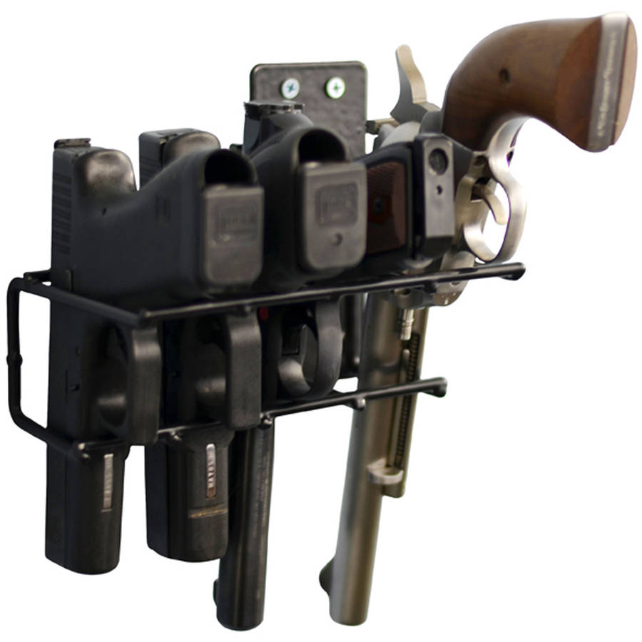Boomstick Gun Accessories Handgun Wall Mount Rack 4 Gun Model, Black by Boomstick Gun Accessories
