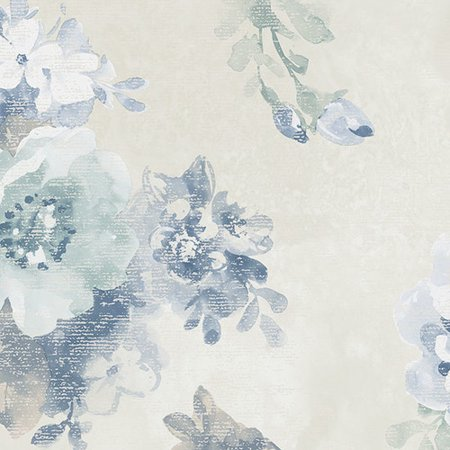 Norwall Wallcoverings Inc VIntage Damask 32.7' x 20.5'' Raised Ink Floral Wallpaper