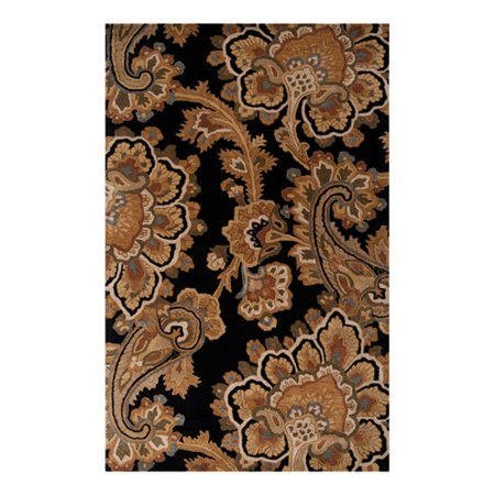Alcott Hill Busch Hand Tufted Black Brown Area Rug Walmart Com