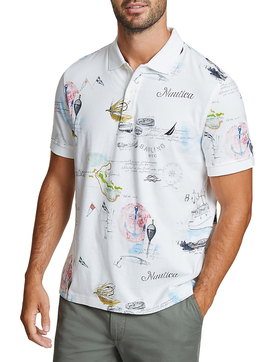 Classic-Fit Artist Series Painted Map Cotton Polo