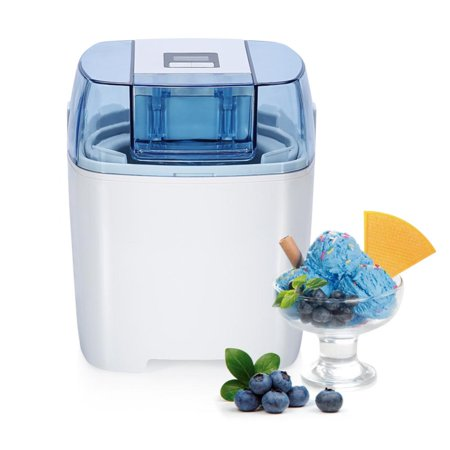 Frozen Clearance (Black Friday Clearance !! Ice Cream Maker Machine Frozen Yogurt Sorbet Gelato Machine,1.5L Freezer Bowl,LCD Timer,Ice Cream Maker)