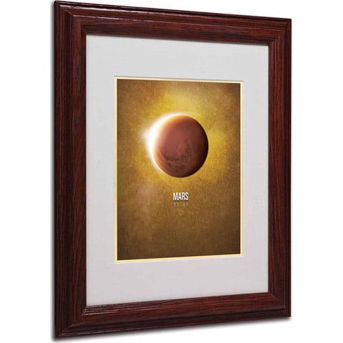 """Trademark Fine Art """"Mars"""" Matted Framed Art by Christian Jackson, Wood Frame"""