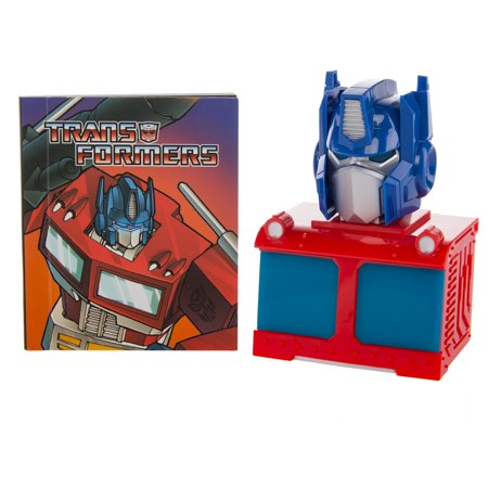 Light Transformer - Transformers Toys G1 Optimus Prime Autobot Mini Kit Light Up Bust and Illustrated Book Small Gift Set By Running Press