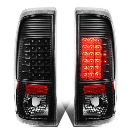 Ford F550 Super Duty Tail (For 2008 to 2016 Ford F250 / F350 / F450 / F550 Super Duty Pair of LED Tail Brake Lights (Black Housing Clear Lens) 15 14 13 12 11 10 )