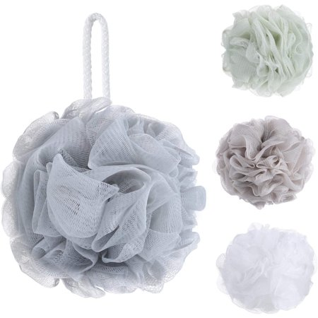 Roofei Bath Shower Sponge Loofahs (60g/pcs) Mesh Pouf Shower Ball, Mesh Bath and Shower Sponge Pack of 4 - image 5 de 6