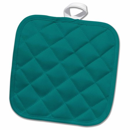 3dRose Cool Teal - Pot Holder, 8 by 8-inch