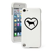 Apple iPod Touch 5 5th Generation Rubber Hard Case Cover Beagle Heart (White)