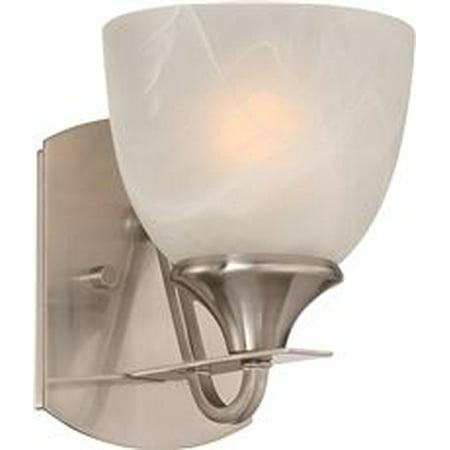 Monument Vanity Fixture Brushed Nickel 6 1 2 X 8 4 7 3 In Uses 100 Watt Incandescent Medium Base Lamp