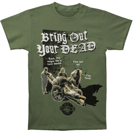 Monty Python Mens  Bring Out Your Dead T Shirt Green