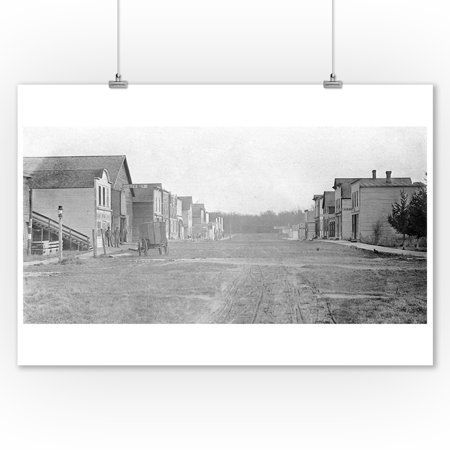McIntire, Iowa - Eastern View of Main Street (9x12 Art Print, Wall Decor Travel