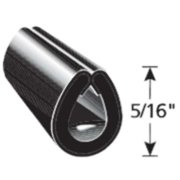 TRIM LOK INC EGB-50 Edge Guard Black,5/16 In. L,50 ft