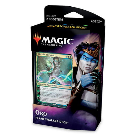 Magic: The Gathering Throne of Eldraine Oko, The Trickster Planeswalker Deck | Ready-to-Play | 60-Card Starter Deck Elemental Deck Magic Gathering