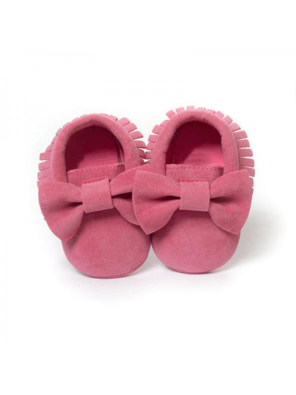 Newborn Baby Girls Star Crib Shoes Infant Toddler Mary Jane First Shoes 0-18 M