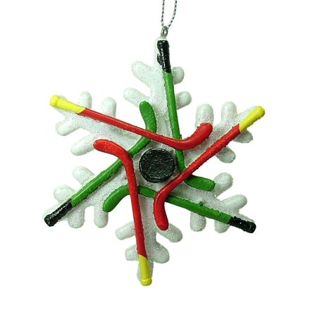 Hockey Stick Puck Player Sport Snowflake Christmas Tree Ornament By Midwest By Midwest-CBK Ship from US