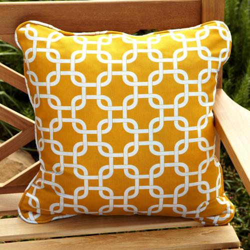 Mozaic Company Penelope Yellow 18-inch Square Outdoor Pillow (Set of 2)