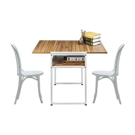 Extendable Restaurant Dining Table Computer Laptop Breakfast Desk Coffee Shop ()