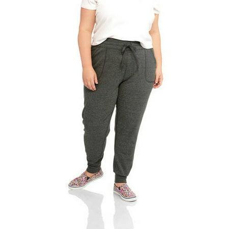 3b28acbd38d2 Danskin Now - Women's Plus-Size French Terry Ankle Jogger Pants -  Walmart.com