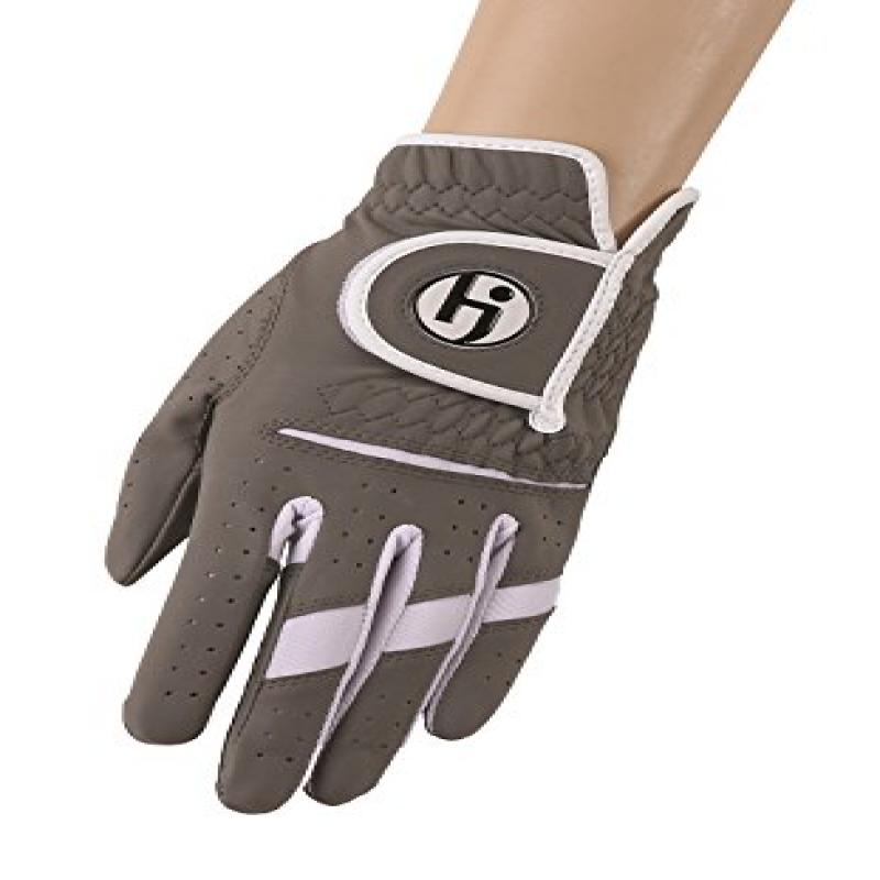 HJ Glove Women's Gripper II Golf Glove, Right Hand, Small, Steel Grey by