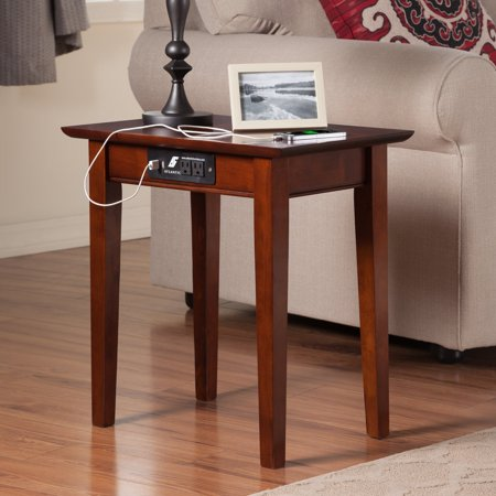Atlantic Furniture Vienna Chair Side Table With Charging Station