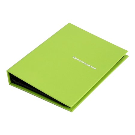 Home Retangular Shaped Memo Collections Holder Cover Photo Album Green