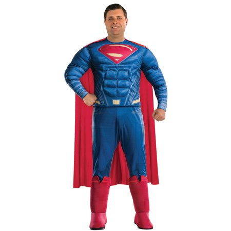 Justice League Superman Dc Superhero Adult Halloween Costume-Plus Size - Superhero Ideas For Halloween