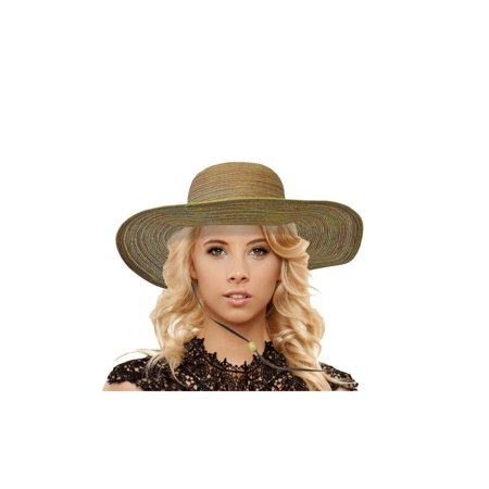 735e74252ac37 JenniWears Women's Wide Floppy Brim Summer Beach Sun Hat With Chin Strap -  Walmart.com