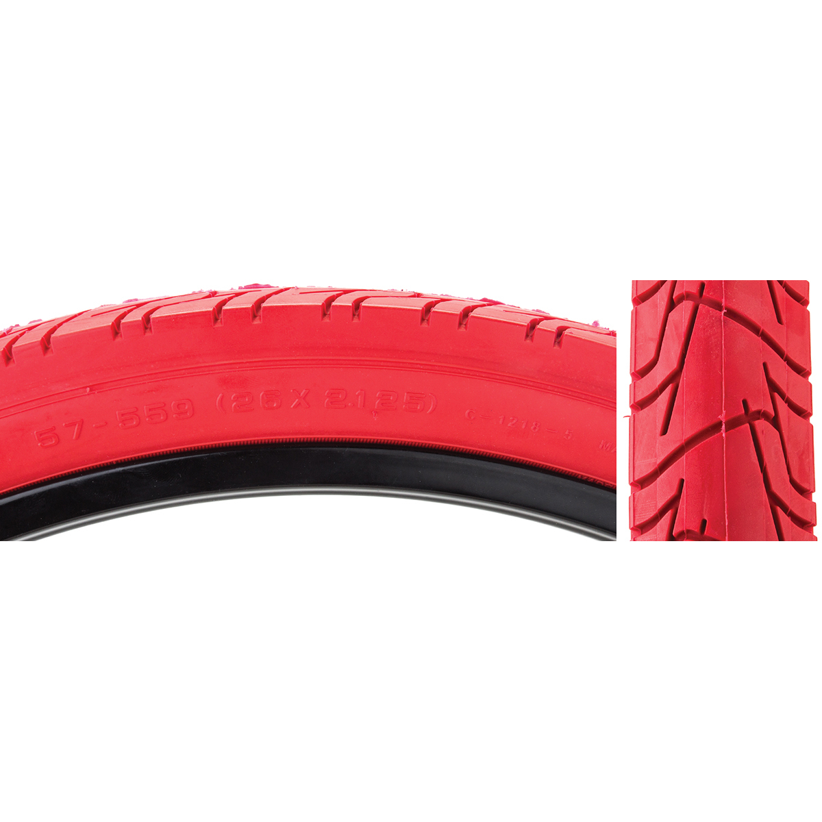 Sunlite Tire 26X2.125 Cst1218 Rd/Red City