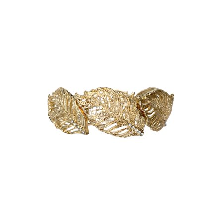 Time And Tru Tt Gold Leaf Bracelet