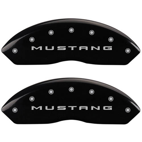Set of 4 MGP Caliper Covers 10202Sm32Bk, Engraved Front: 2015 Mustang, Engraved Rear: 2015 37, Black Powder Coat Finish,... by MGP CALIPER COVERS