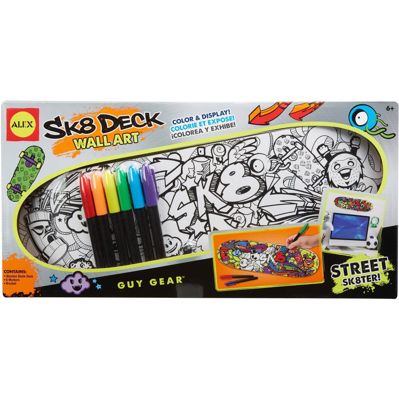 ALEX Toys Craft Sk8 Deck Wall Artwork Street Sk8ter by Alex Brands