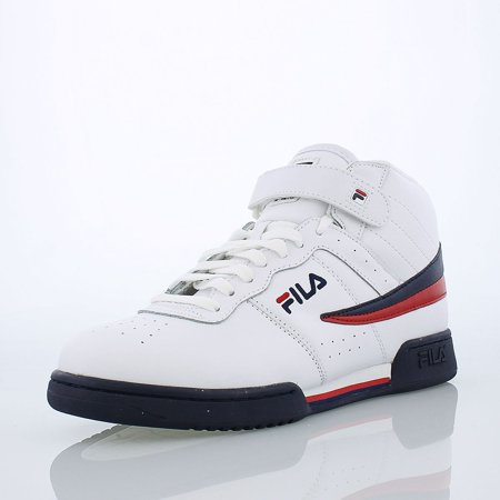 Freedom Synthetic Leather - Fila Men's F-13V Lea/Syn White/FILA Navy/FILA Red Leather / Synthetic Fashion Sneakers 11.5
